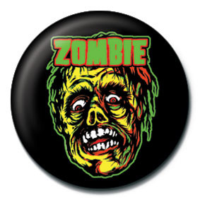 Button ROB ZOMBIE - zombie face