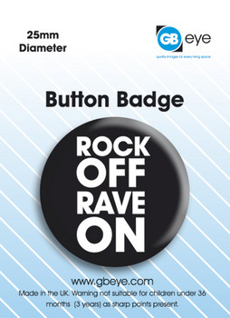 Button  Rock On Rave Off
