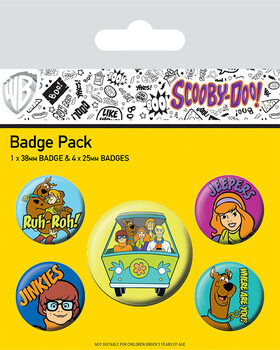 Button Scooby Doo - Mystery Machine Team