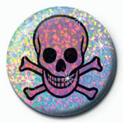 Button SKULL PINK