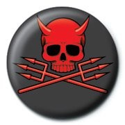 Button  SKULLDUGGERY - devil