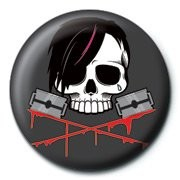 Button  SKULLDUGGERY - emo