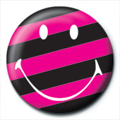 SMILEY - stripy Button