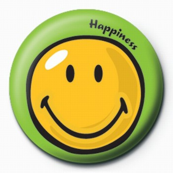 Button Smiley World-Happiness