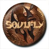 Button Soulfly - Blade Logo