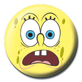 Button SPONGEBOB - erschrocken