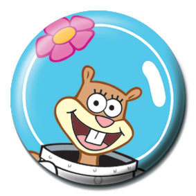 Button  SPONGEBOB - sandy gesicht