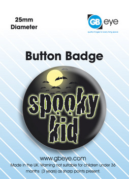 Button Spooky Kid