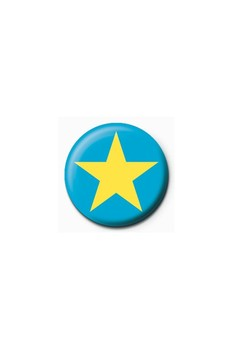 Button STAR - blue/yellow