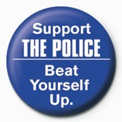 Button SUPPORT THE POLICE, BEAT Y