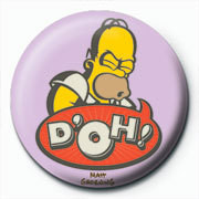 Button THE SIMPSONS - homer d'oh art