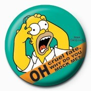 Button  THE SIMPSONS - homer screamin'