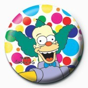Button  THE SIMPSONS - krusty polka