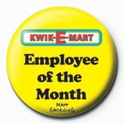 Button  THE SIMPSONS KWIK-E-MART - employee