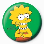 THE SIMPSONS - lisa Button