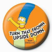 Button  THE SIMPSONS - marge frown