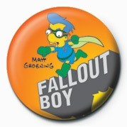 Button  THE SIMPSONS - milhouse fallout boy
