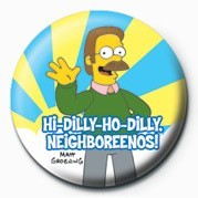 Button  THE SIMPSONS - ned flanders neighboreenos!