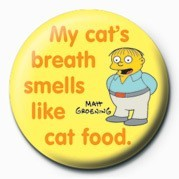Button  THE SIMPSONS - ralph cat's breath