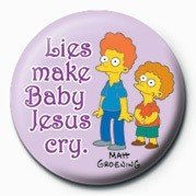 Button  THE SIMPSONS - rod & todd baby ...