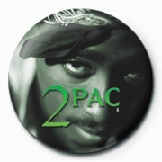 Button Tupac - Green