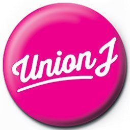 Button UNION J - pink logo