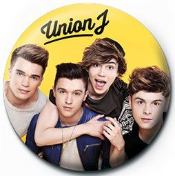 Button  UNION J - yellow