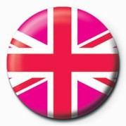 Button Union Jack (Pink)