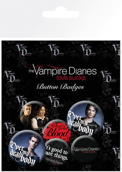 Vampire Diaries - Stefan & Damon Button