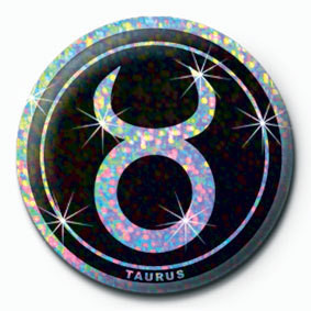 Button ZODIAC - Taurus