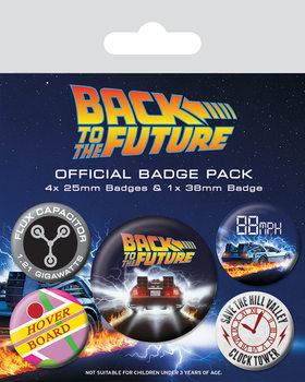Button Zurück in die Zukunft - Delorean