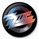 Button ZZ TOP - logo