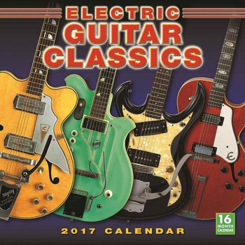 Electric Guitar Calendar 2017