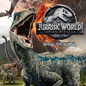 Jurassic World Fallen Kingdom Calendar 2019