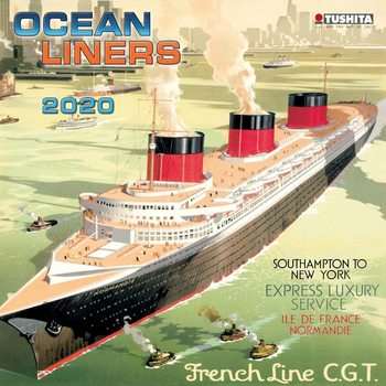 Ocean liners Calendar 2020