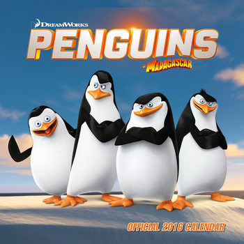 Penguins of Madagascar Calendar 2017