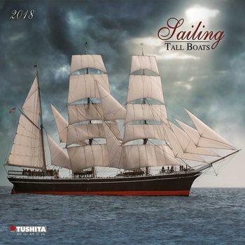 Sailing tall Boats Calendar 2018