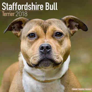 Staffordshire Bull Terrier Calendar 2018