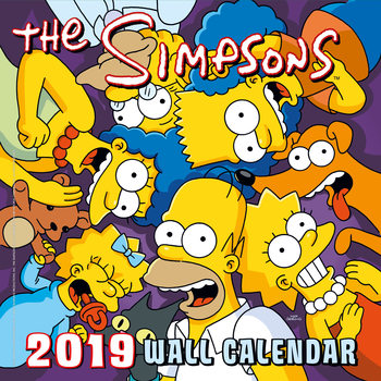The Simpsons Calendar 2019