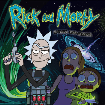 Calendario 2019  Rick And Morty