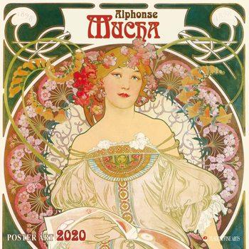 Calendar 2020  A. Mucha - Poster Art