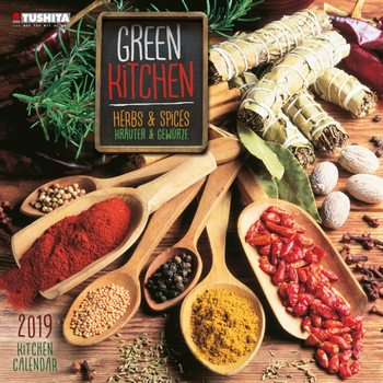 Calendar 2019  Green Kitchen - Herbs & Spices