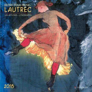 Calendar 2018 Henri Toulouse-Lautrec - Lithographs