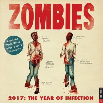 Calendar 2017 Zombie