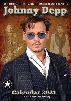 Johnny Depp Calendrier 2021