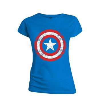 Camiseta Captain America - Cracked Shield