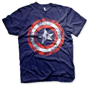 Camiseta  Captain America - Distressed Shield