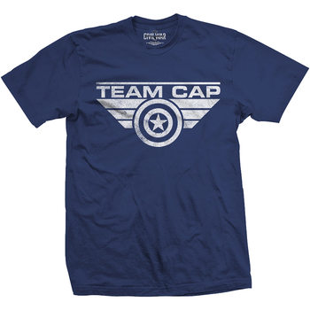 Camiseta  Captain America - Team Cap Logo