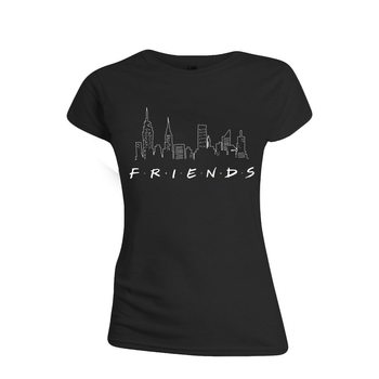 Camiseta  Friends - Logo and Skyline