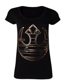 Camiseta Star Wars The Last Jedi - Gold Rebel Logo S